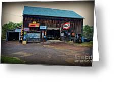 Country Garage Greeting Card