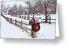 Country Holiday Cheer Greeting Card