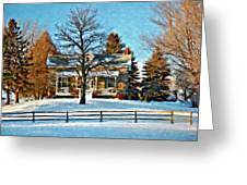 Country Home Watercolor Greeting Card