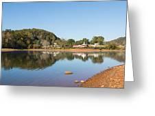 Country Lake Scene Greeting Card