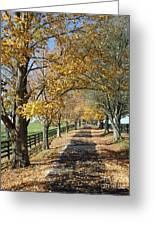 Country Lane Greeting Card by Roger Potts