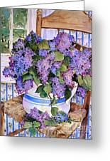 Country Lilacs Greeting Card by Sherri Crabtree