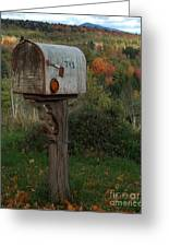 Country Mail Box Greeting Card