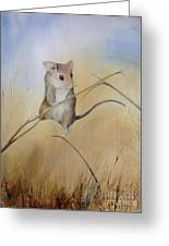 Country Mouse Greeting Card