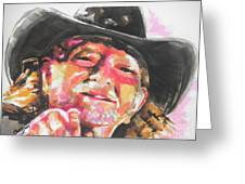Country Music Artist...willie Nelson Greeting Card