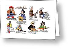 Country Music Awards Greeting Card