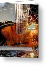 Country Music Digital Guitar Art By Steven Langston Greeting Card
