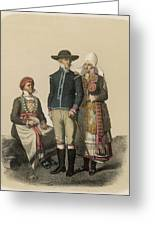 Country People From Ingelstad Greeting Card