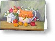 Country Pitcher With Sugar Bowl Greeting Card