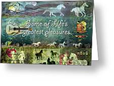 Country Pleasures Greeting Card