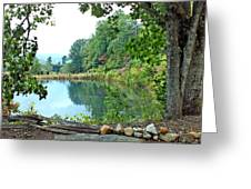 Country Pond Greeting Card