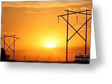 Country Powerline's Greeting Card