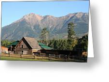 Country Ranch In Mountains Greeting Card
