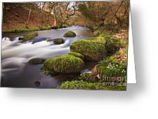 Country River Scene Wales Greeting Card