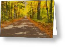 Country Road In Autumn Greeting Card