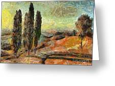 A Sunset In Tuscany Greeting Card