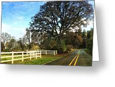 Country Road On Sauvie Island Greeting Card