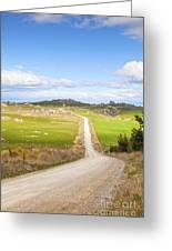 Country Road Otago New Zealand Greeting Card