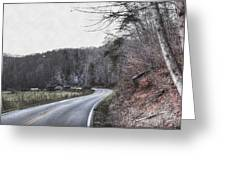 Country Road Take Me Home Photo Greeting Card
