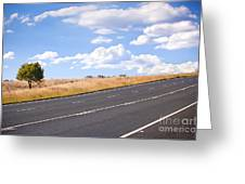 Country Road Greeting Card by Tim Hester