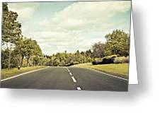 Country Road Greeting Card by Tom Gowanlock
