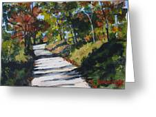 Country Road Two Greeting Card