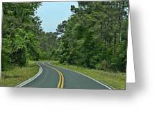 Country Road Greeting Card by Victor Montgomery
