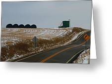 Country Roads In Holmes County Greeting Card