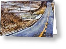 Country Roads In Ohio Greeting Card