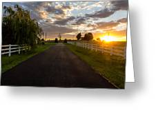 Country Setting Greeting Card