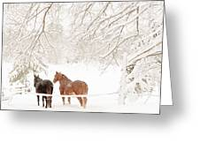 Country Snow Greeting Card