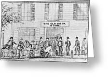 Country Store, 1847 Greeting Card