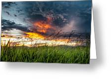 Country Sunset In Valenca - Brazil Greeting Card