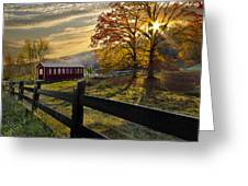 Country Times Greeting Card by Debra and Dave Vanderlaan