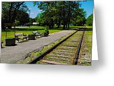 Country Train Station Greeting Card