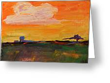Country Twilight Greeting Card