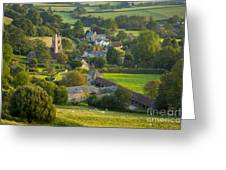 Country Village - England Greeting Card