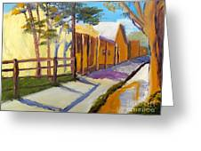Country Village Greeting Card
