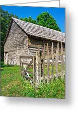 Country Weathered Barn Greeting Card