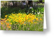 Countryside Cottage Garden 5d24560 Long Greeting Card by Wingsdomain Art and Photography