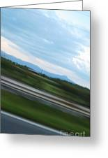 Countryside Flying By Greeting Card