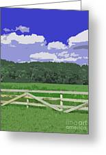 Countryside Scene Digital Painting Greeting Card