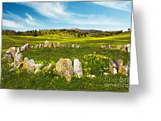 Countryside With Stones Greeting Card