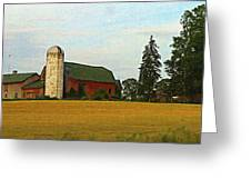 County Barn - Digital Painting Effect Greeting Card