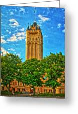 County Courthouse Greeting Card by Dan Quam