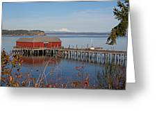 Coupeville Jetty Greeting Card