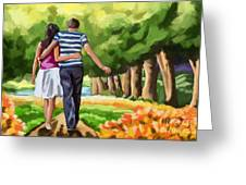 Couple In The Park 01 Greeting Card