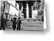 Couple In Times Square Greeting Card