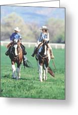 Couple Riding Greeting Card