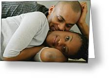 Couple Snuggles Greeting Card
